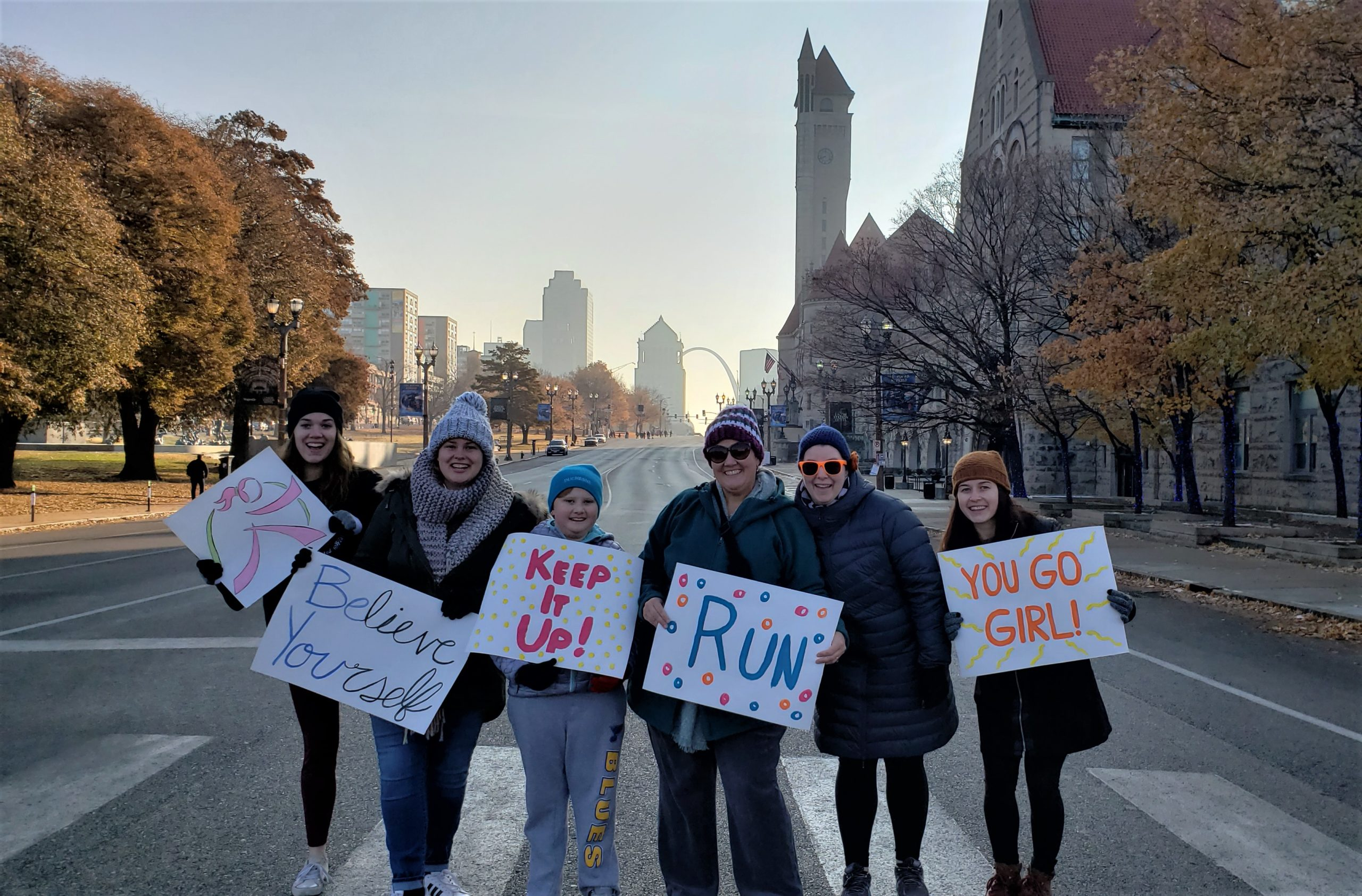 Women In Leadership -group at 2019 Girls On The Run event